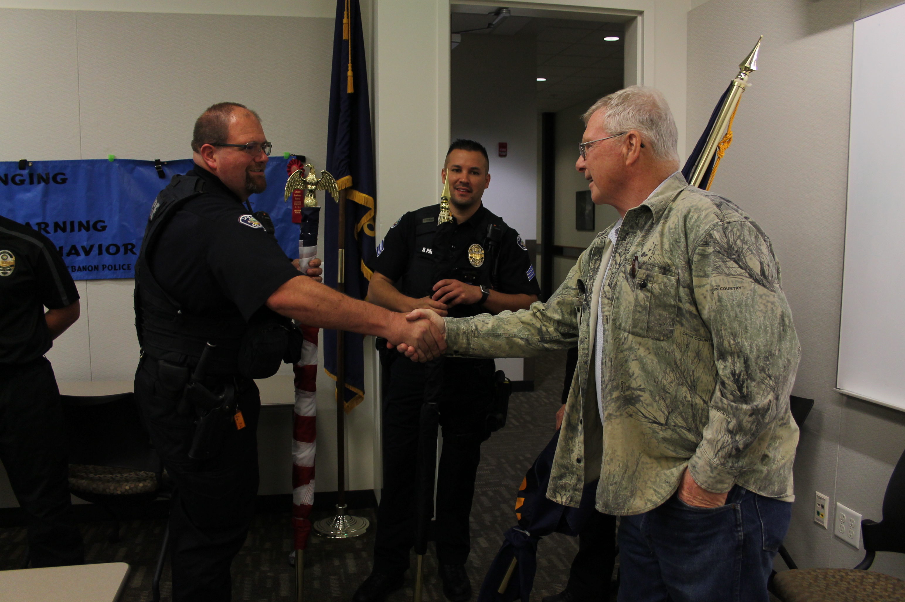 Police cadets receive flags | Lebanon Local
